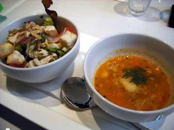 夜光杯季節のサラダとスープ